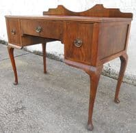 Antique Queen Anne Style Walnut Kneehole Writing Desk - SOLD